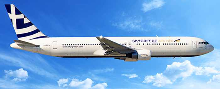 SkyGreece Airlines Beoing 767-300 ER aircraft