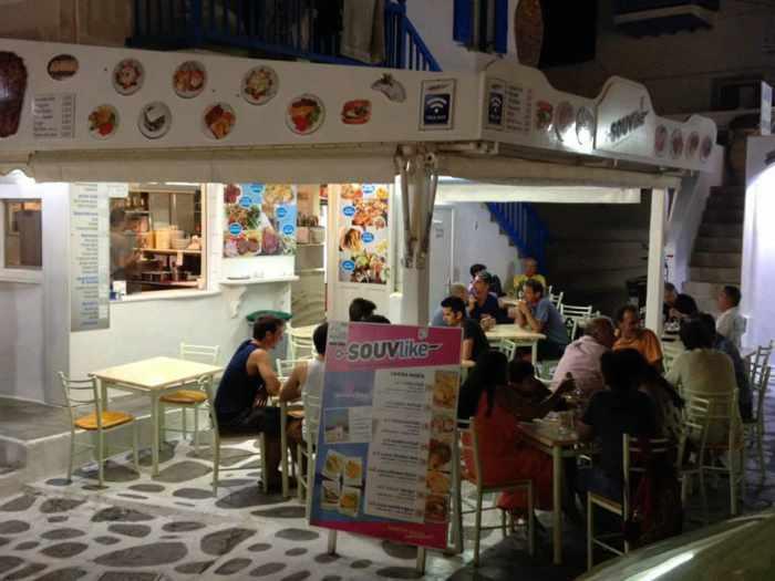 Souvlike Mykonos restaurant photo from Facebook