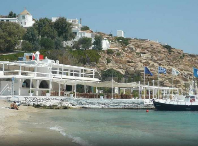 Thalassa restaurant at Kalafatis beach on Mykonos photo by TripAdvisor member Daria83