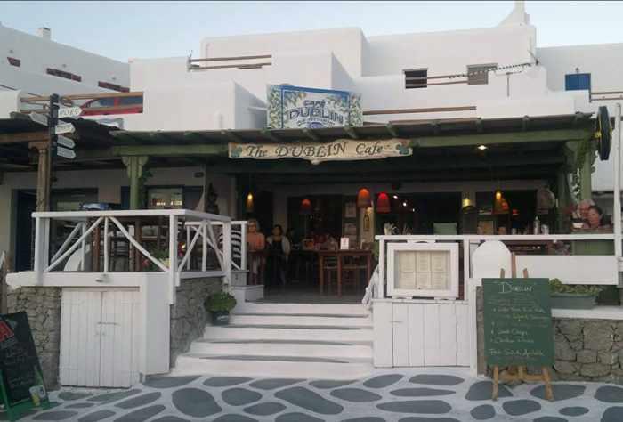 The Dublin Cafe at Agios Stefanos Mykonos photo from its TripAdvisor listing