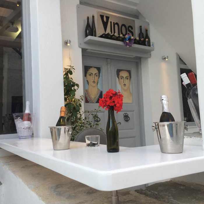 Vinos Bar at 7 Kalogera Street Mykonos photo from its Facebook page