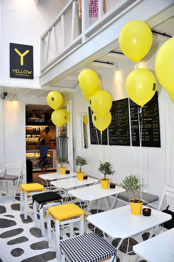Yellow Foodies Spot Mykonos website photo