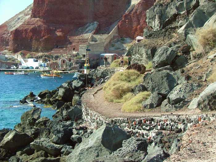 coastal path at Amoudi Bay
