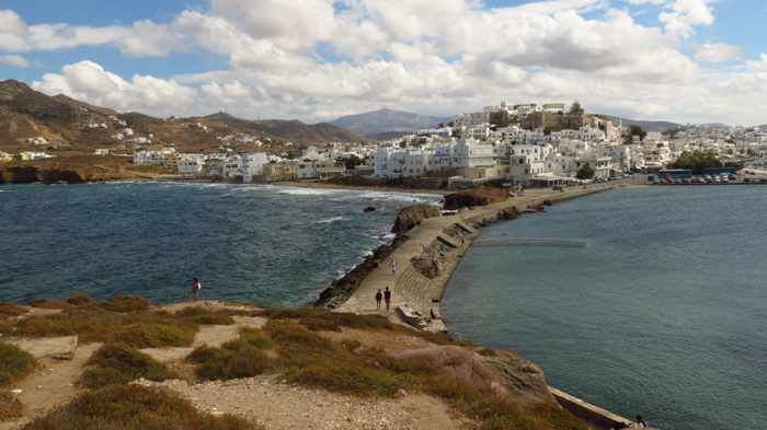 the view from the Palatia peninsula on Naxos