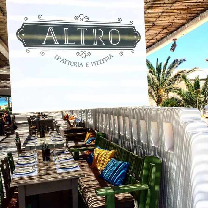 Altro Seaside Trattoria Mykonos dining terrace photo 02 from Facebook