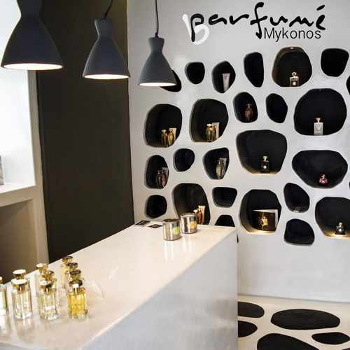Barfume Parfumerie Mykonos interior photo from the shop's Facebook page
