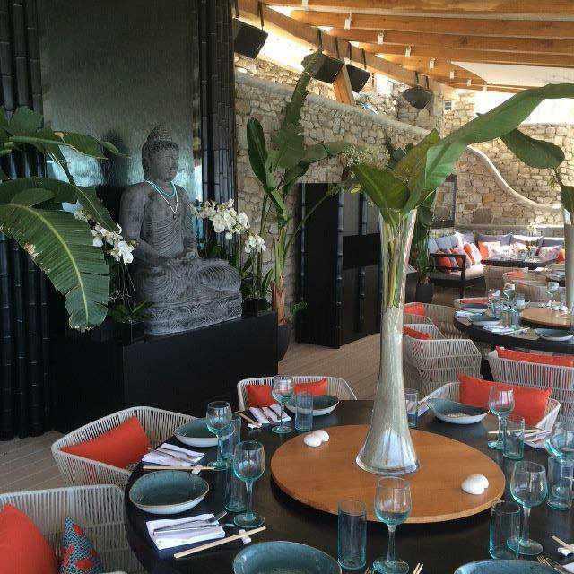 Buddha-Bar Beach restaurant and bar at Santa Marina Resort Mykonos photo from the resort Facebook page