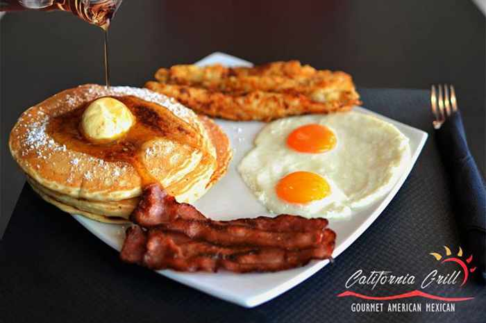 California Grill breakfast at Food Mall Mykonos photo from the Mall's Facebook page