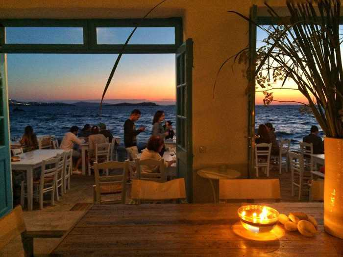 Caprice Mykonos bar and restaurant at Little Venice photo from Facebook
