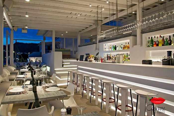 Cayenne Mykonos interior seen in a Facebook photo