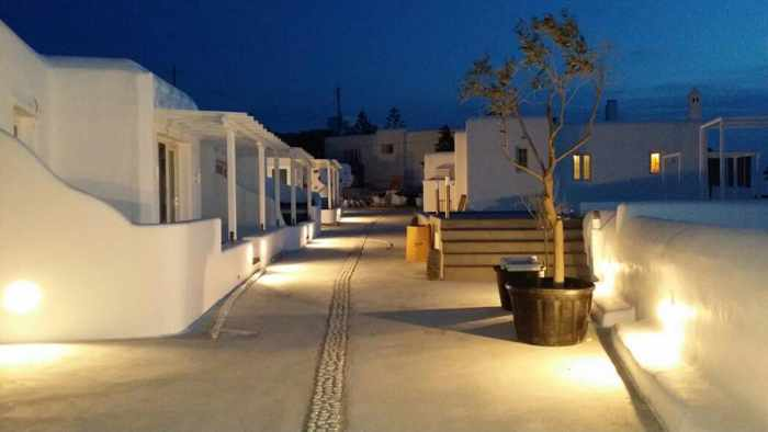 Colours of Mykonos Luxury Residences & Suites night view photo from Facebook page