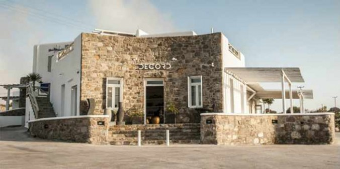 Decord Mykonos showroom photo from the shop's Facebook page