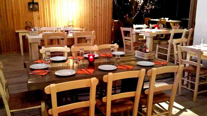 Paprika Grill at Ano Mera Mykonos dining room photo from the restaurant Facebook page