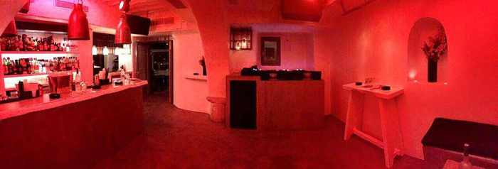 Interior of Scarpa bar at Little Venice Mykonos photo from the clubs Facebook page