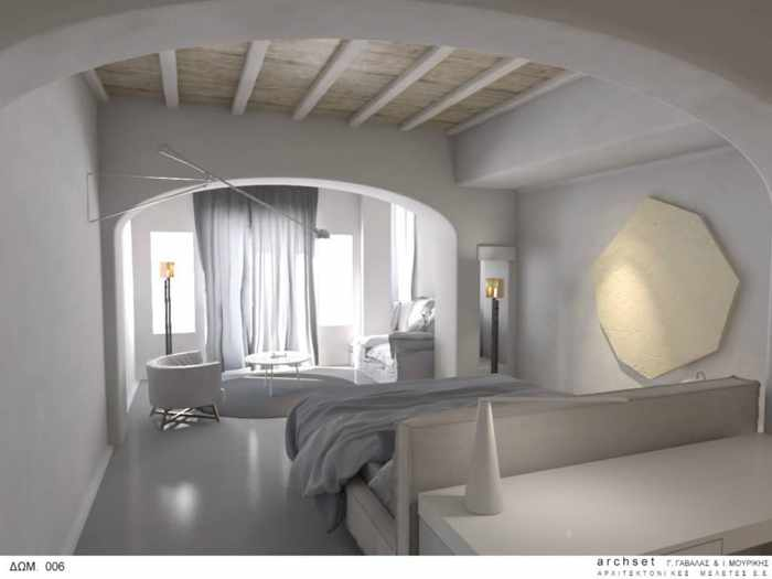 Interior of a room at Mykonos Blanc Hotel seen in image from hotel Facebook page 03