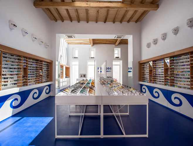 Kopajos Mykonos eyewear shop on Kalogera Street photo from shop's Facebook page