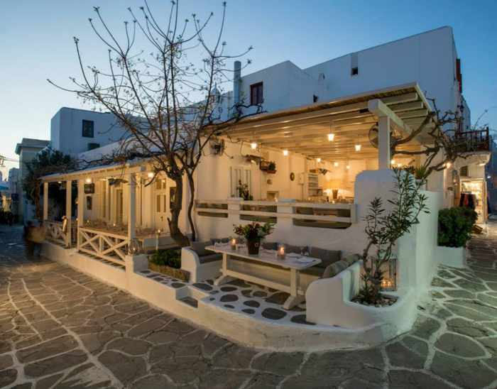 M-eating Mykonos exterior view photo from the restaurant's Facebook page