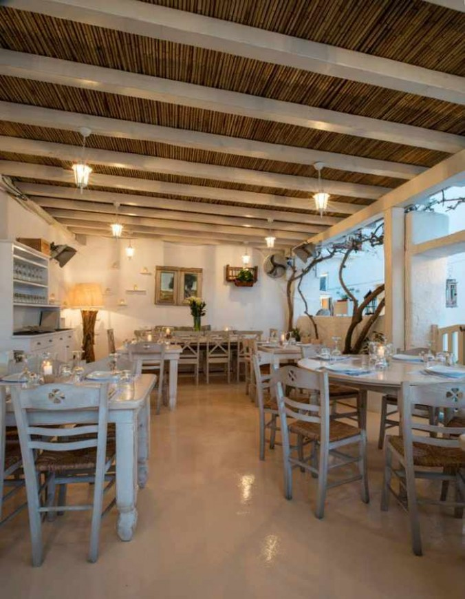 M-eating Mykonos interior view photo -2 from the restaurant's Facebook page