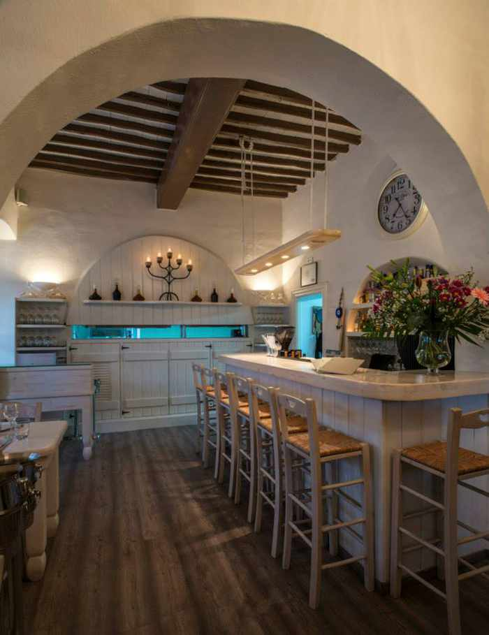 M-eating Mykonos interior view photo from the restaurant's Facebook page