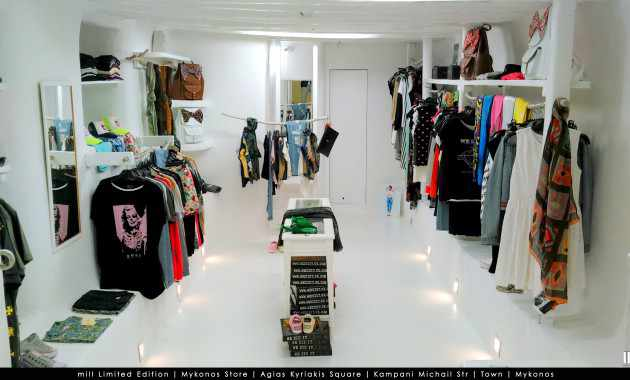 Mill Mykonos fashion shop photo from Reportaz.gr
