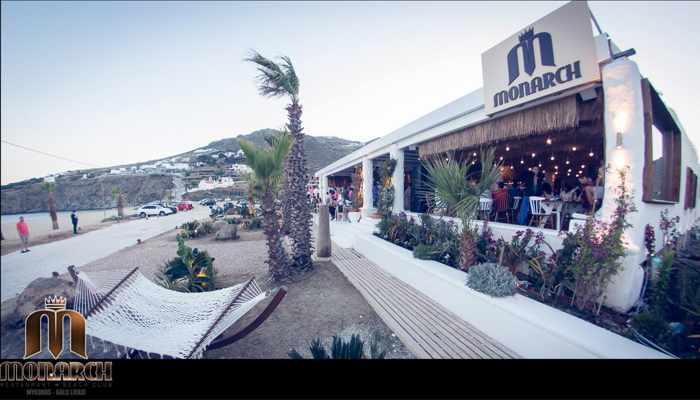 Monarch Restaurant & Beach Club at Kalo Livadi Mykonos photo from its website