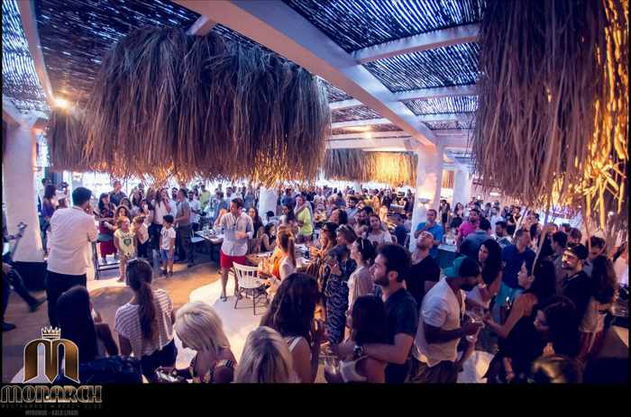 Monarch Restaurant & Beach Club at Kalo Livadi Mykonos photo of its event featuring Melisses May 31 2015
