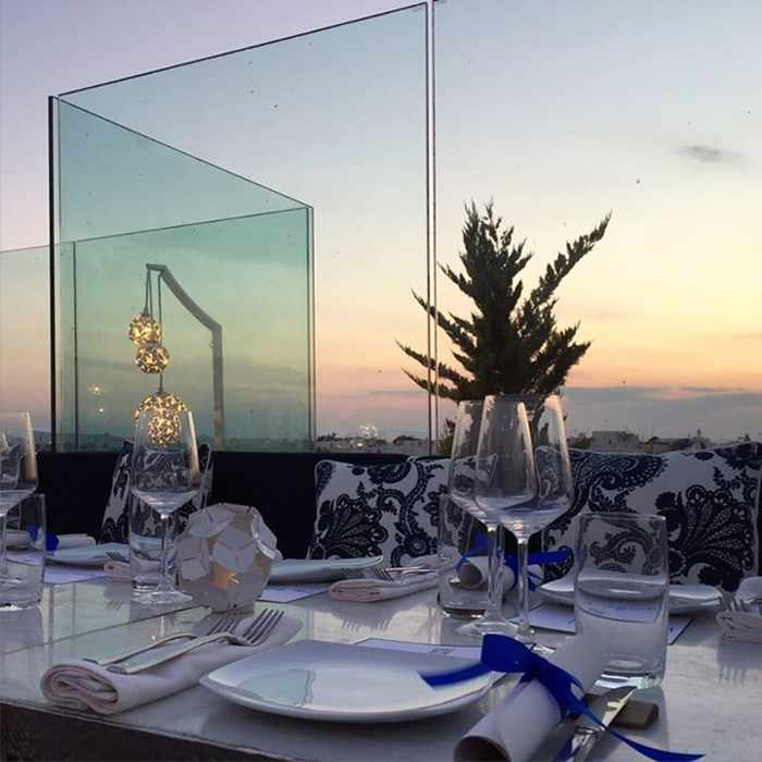 New Thea restaurant at Belvedere Hotel Mykonos photo from the Belvedere Facebook page