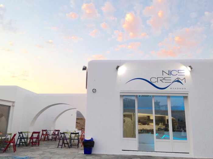 N'ice cream Mykonos photo from the cafe's Facebook page