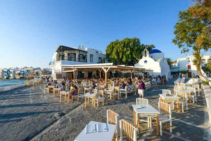 Nice n Easy Mykonos location at Alefkandra Square photo from the restaurant Facebook page