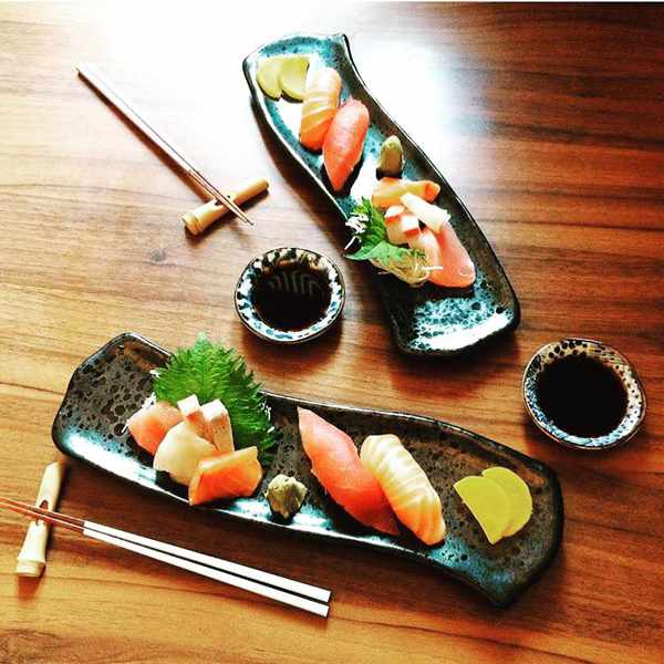 Nigiri and sashimi plate at Kiku Mykonos photo from the restaurant's Facebook page