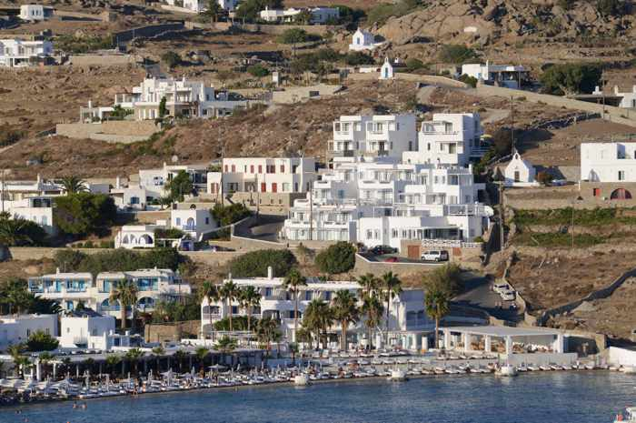 Pasaji Mykonos Ornos beach location photo from the Pasaji Facebook page