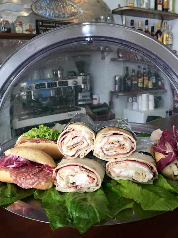 Popolo Mykonos Facebook page photo of some of its sandwich selections
