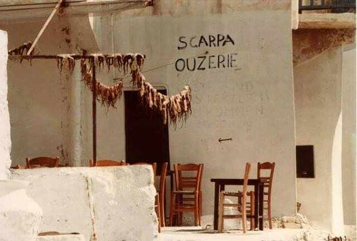 Scarpa Mykonos Facebook photo of Scarpa 30 years ago