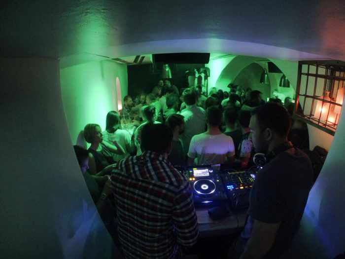 Scarpa Mykonos partying on April 12 2015 photo from the clubs Facebook page