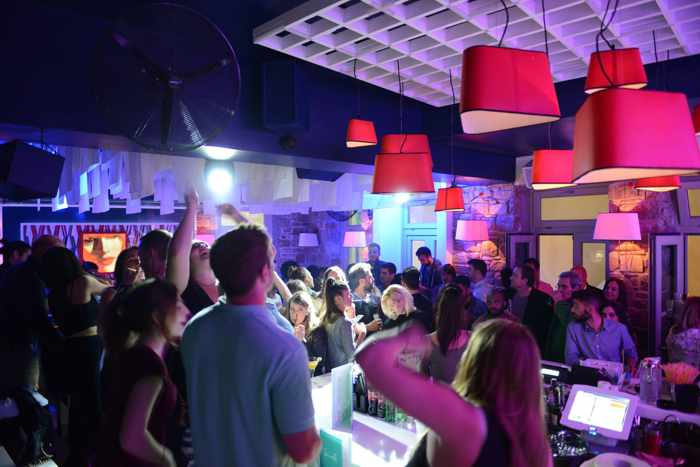 Semeli Bar party scene early May 2015 photo from the bars Facebook page
