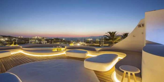 Skybar at Andronikos Hotel Mykonos photo from the hotel website