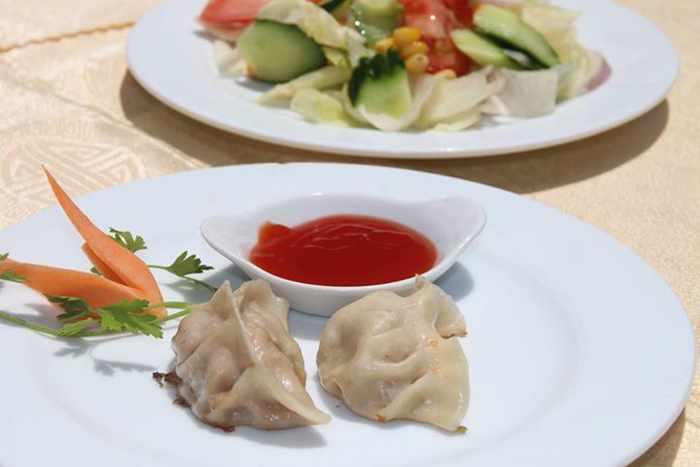 Steamed or fried dumplings from Asian Taste Mykonos in Food Mall Mykonos