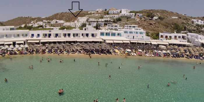 The George Hotel Mykonos image showing hotel location at Platis Gialos
