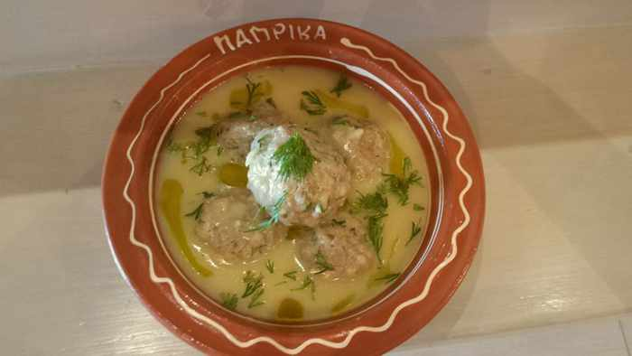 Traditional Greek dish offered at Paprika Grill in Ano Mera Mykonos
