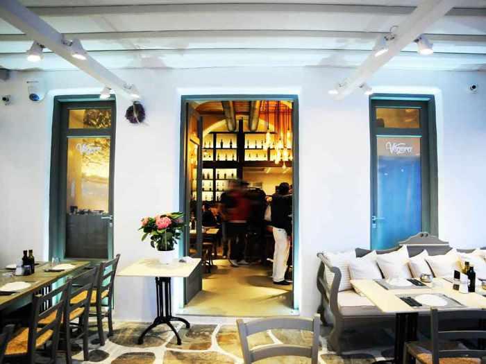 Vegera Cafe Bar Restaurant Mykonos photo from its website