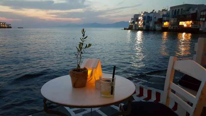 Views from Breeze Cocktail Bar at Little Venice Mykonos