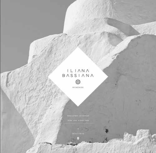 Website logo for the Iliana Bassiana boutique in Mykonos