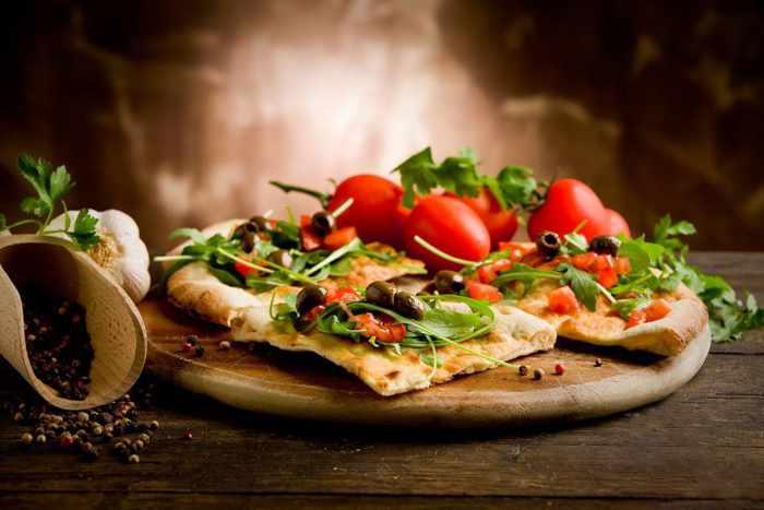 pizzat at Eat Italiano Mykonos in the Food Mall Mykonos
