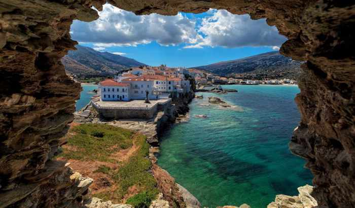 PHoto of Andros Town (Chora) from Discover Greece website