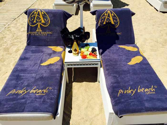 Armand de Brignac champagne photo 02 from Pinky Beach Mykonos
