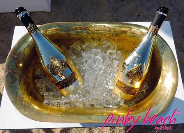 Armand de Brignac champagne photo 02 from the Pinky Beach Mykonos Facebook page