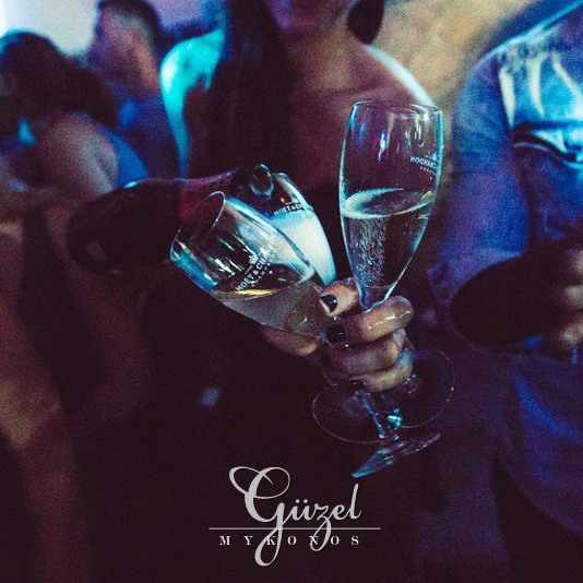 Champagne photo from Guzel STage Club Mykonos Facebook page