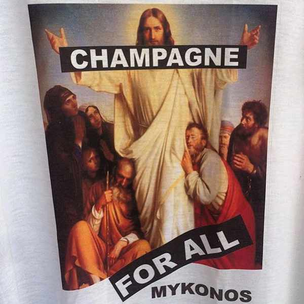 Champagne photo from the Rock N Roll Mykonos nightclub Facebook page