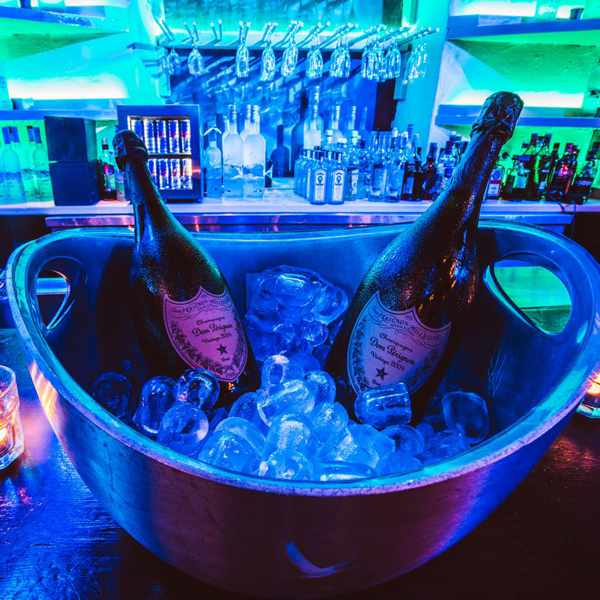 Dom Perignon champagne photo from Guzel Stage Club Mykonos Facebook page