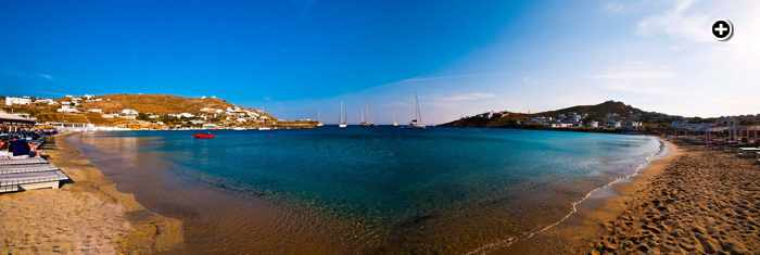 Ornos beach Mykonos photo shared on Facebook by Mpalothies taverna